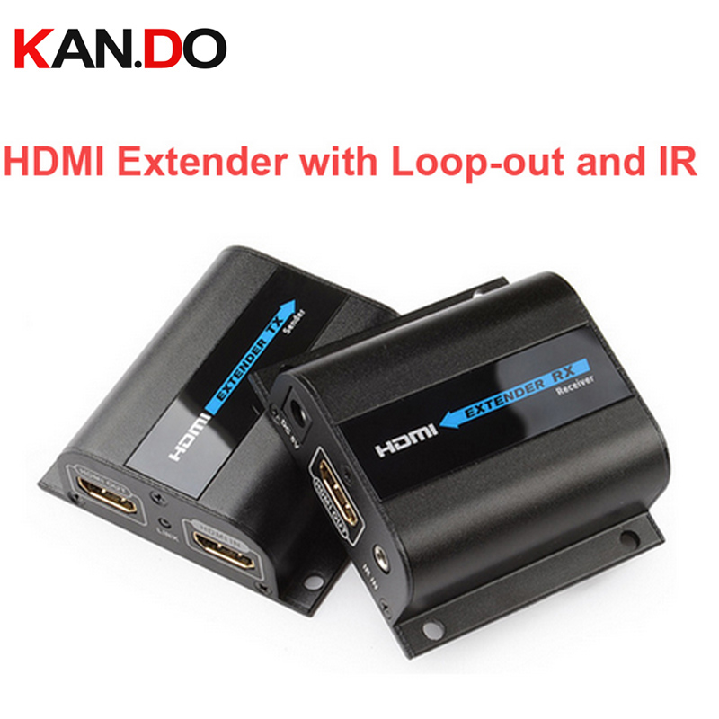 LKV372Pro HDMI Extender 1080P HDMI Up To 60m/196ft Over Single CAT6 Network Cable HDMI Extender W/ Loop-out&IR Wireless Adapter