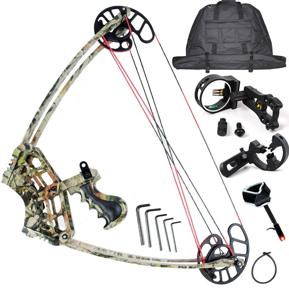 M109 Camo Bow Set, Camouflage Triangle Hunting Compound Bow Set, China Archery Set