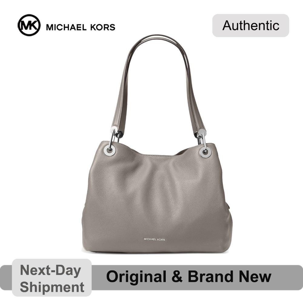 Michael Kors Shoulder Bag Michael Kors Raven Pebble Leather Shoulder Tote (Pearl Gray/Silver) Luxury  Handbags For Women Bags Designer by MK on Aliexpress.com | Alibaba Group