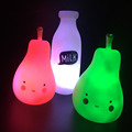 Cute Pink/Green Kids Pillow Pear Led Night Light Safe Baby Bedside Sleeping Toys Todder Feeding Night Lamps Children Gifts
