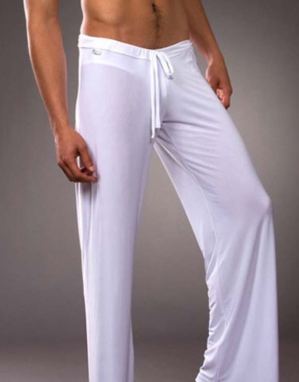 Hot Selling!New Pilates Professional Fitness Men Pants Soft Comfortable Elastic Pants Man Long Johns Men's Household Pants
