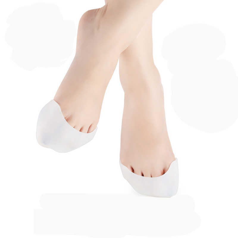 2 piezas. = 1 par de pies elegantes cuidado profesional de silicona pie punta del dedo del pie cubierta suave almohadillas protectores para la punta zapatos de Ballet de nuevo