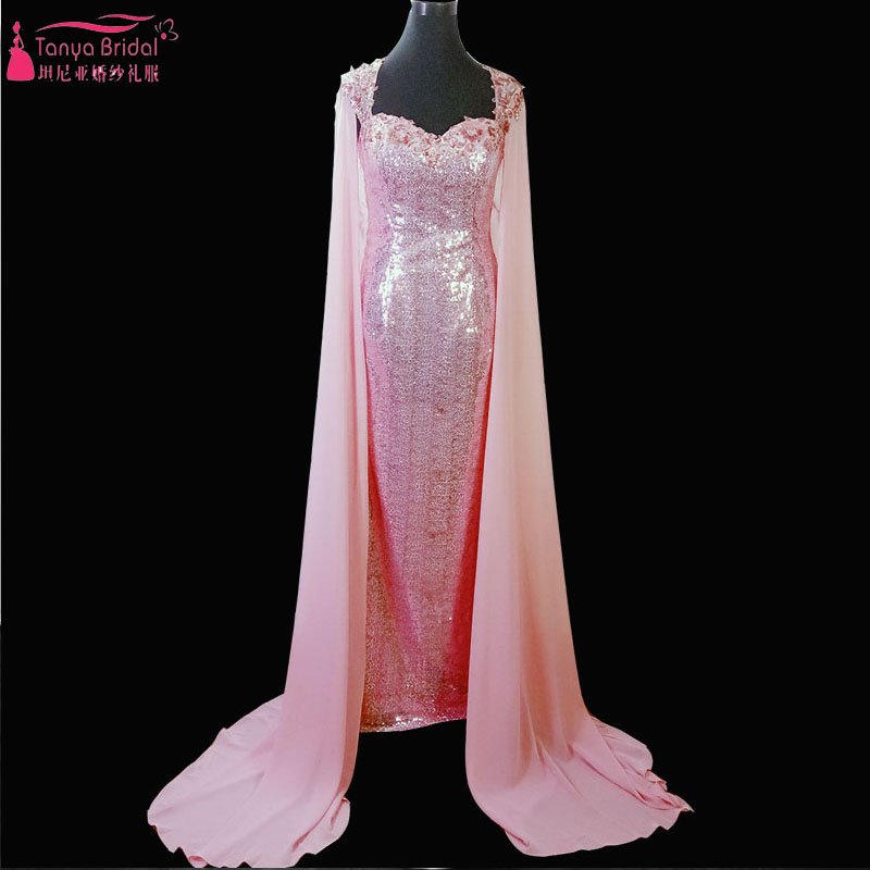 Navy Blue Mermaid Long Lace Elegant Prom Dresses With Wrap Luxury ...
