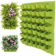Вертикальный садовые мешки для выращивания рост рассады GardeningStorage мешок горшки балкон зеленая растительность для стены цветок посадки горшок