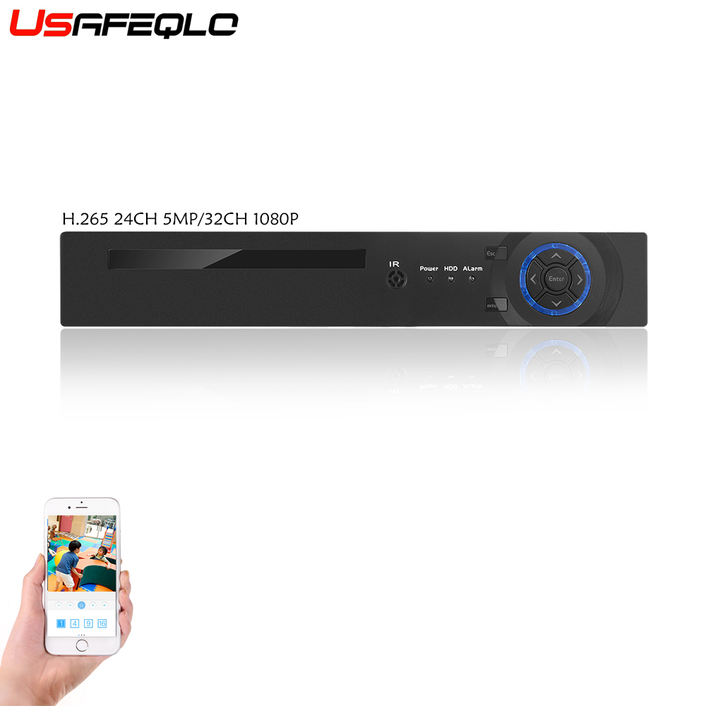 USAFEQLO2 25CH 5MP 32CH 1080P 8CH 4K CCTV H.264/H.265 NVR DVR Network Video Recorder Onvif 2.0 for IP Camera 2 SATA XMEYE P2P-in Surveillance Video Recorder from Security & Protection