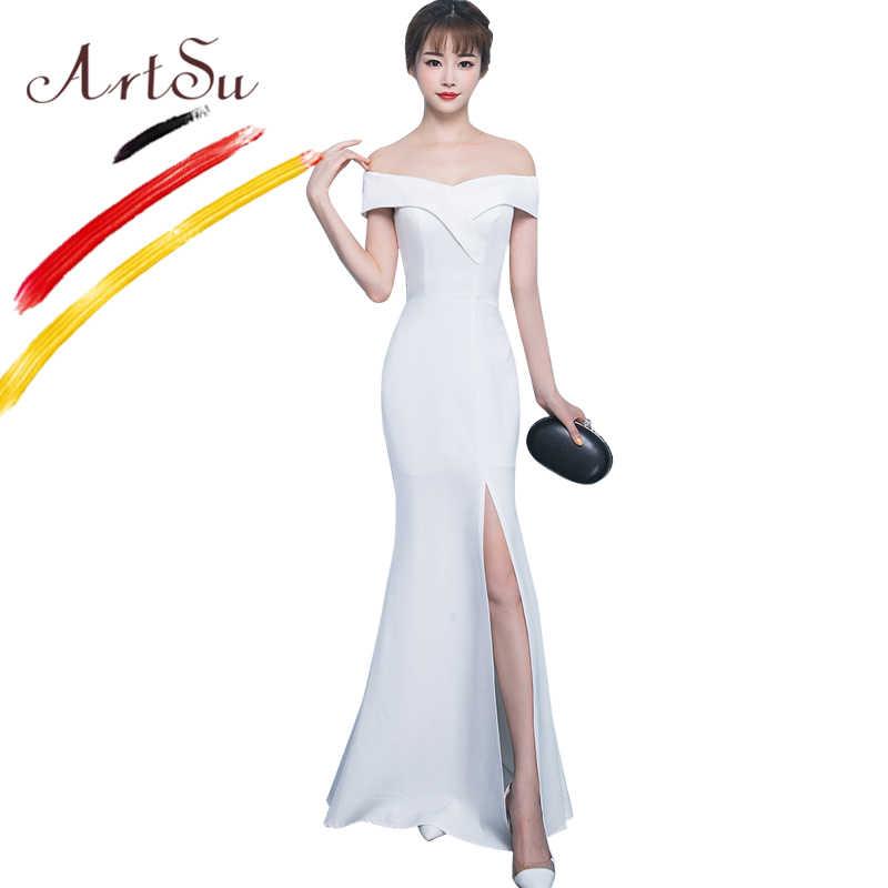 4df660542346b3e ... Арцу элегантный Для женщин бальное платье длинное платье с открытыми  плечами Тонкий Обёрточная бумага пол Длина ...