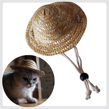 Sun Hat For Dogs Cute Pet Casual Straw Cool Baseball Cap Fashion Products Two Size M L