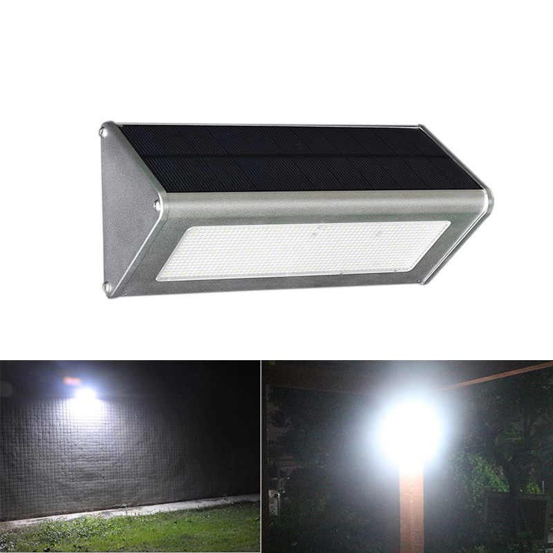 2017 NEW 48 Leds Solar Light Outdoor Microwave Radar Sensor Waterproof Energy Saving Wall Light for Garden Pathway Backtard Road new saving energy ir sensor module