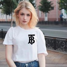 Star Same-style Cyber Celebrity White Short-sleeved T-shirt, Womens Loose Korean Middle-and-long Half-sleeve T-shirt