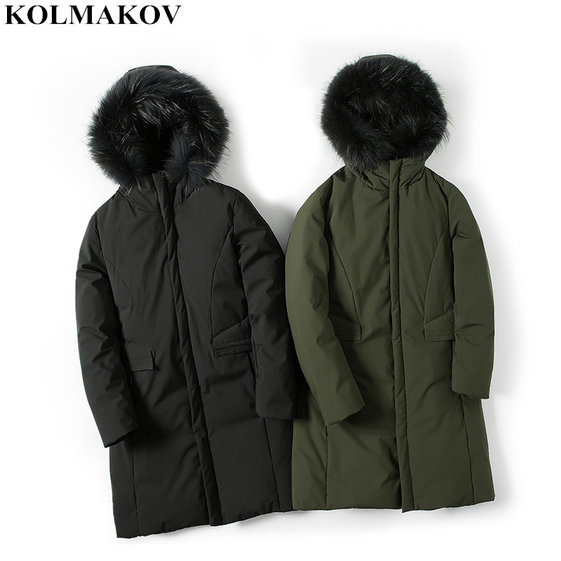 2018 New Men's Duck   down     Coats   Winter Parkas Jackets with zipper Thicken Warm Parka solid color Clothing Homme Plus size M-3XL