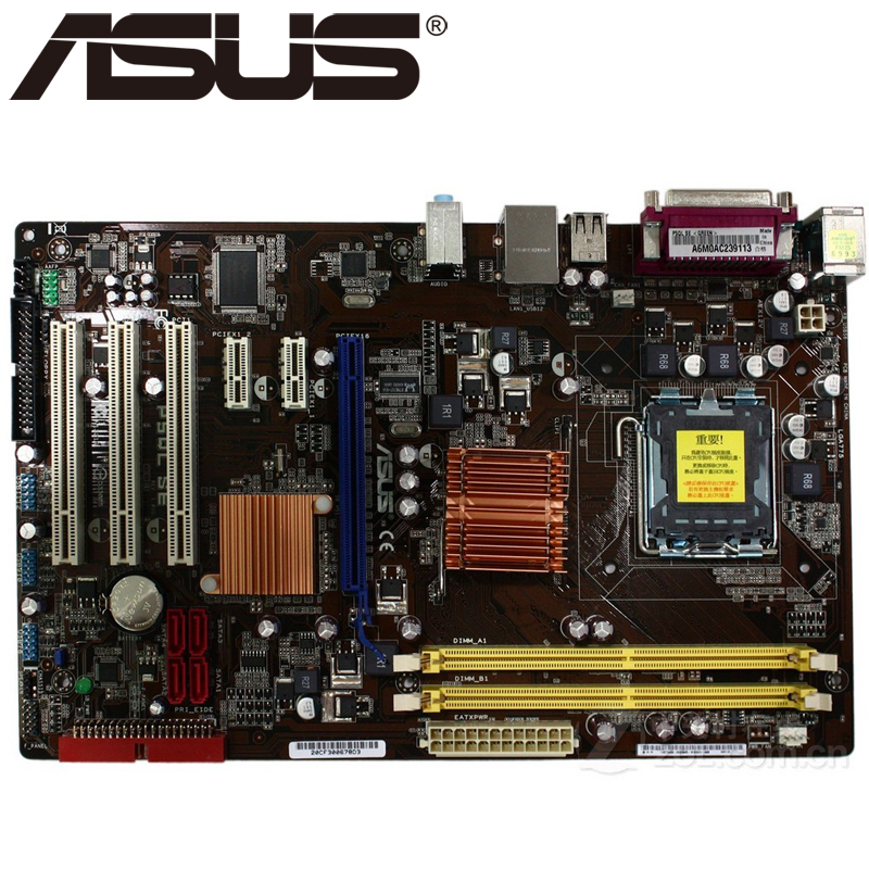 Asus P5QL SE Desktop Motherboard P43 Socket LGA 775 Q8200 Q8300 DDR2 8G ATX UEFI BIOS Original Used Mainboard On Sale asus p5k se epu original used desktop motherboard p35 socket lga 775 ddr2 8g sata2 usb2 0 atx