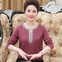 Middle Aged Women Sweaters Fashion Autumn Winter Warm  O-Neck Pullover Long Sleeve Casual Loose Knitted Tops Plus Size 4XL цены