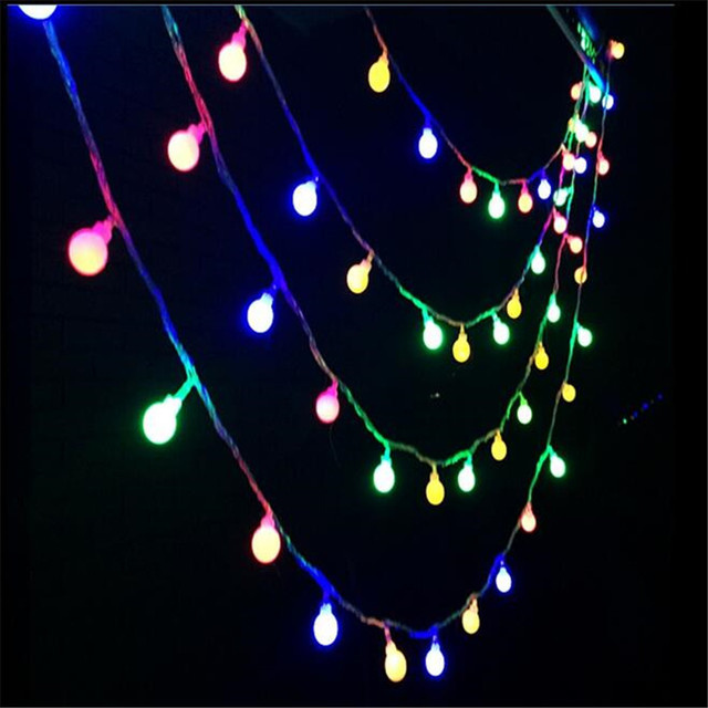 free shipping 10m led string lights with 50led ball ac220v holiday decoration lamp festival christmas lights