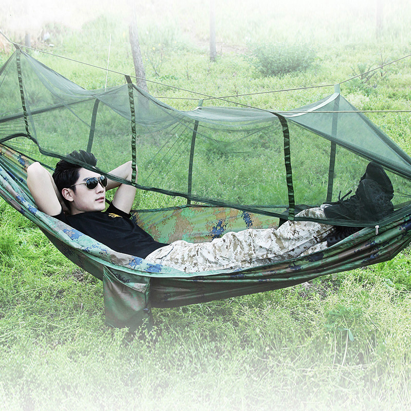 Multifunctional Sunshade Hammock Camouflage Double Single Thicken Canvas Outdoor Camping Dormitory Swing thicken canvas single camping hammock outdoors durable breathable 280x80cm hammocks like parachute for traveling bushwalking