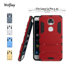 Wolfsay For Leeco Le Pro 3 Dual AI Case Slim Robot Armor Rubber Case For Leeco Le Pro 3 AI Edition Cover X651 X650 Fundas Coque