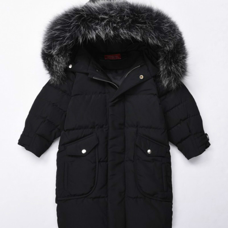 Children S NatuChtural Fox Fur Coat Coat Winter Warm Baby Boys Girls Parkas Real Raccoon Fur Collar Jacket Az337 new army green long raccoon fur collar coat women winter real fox fur liner hooded jacket women bomber parka female ladies fp890