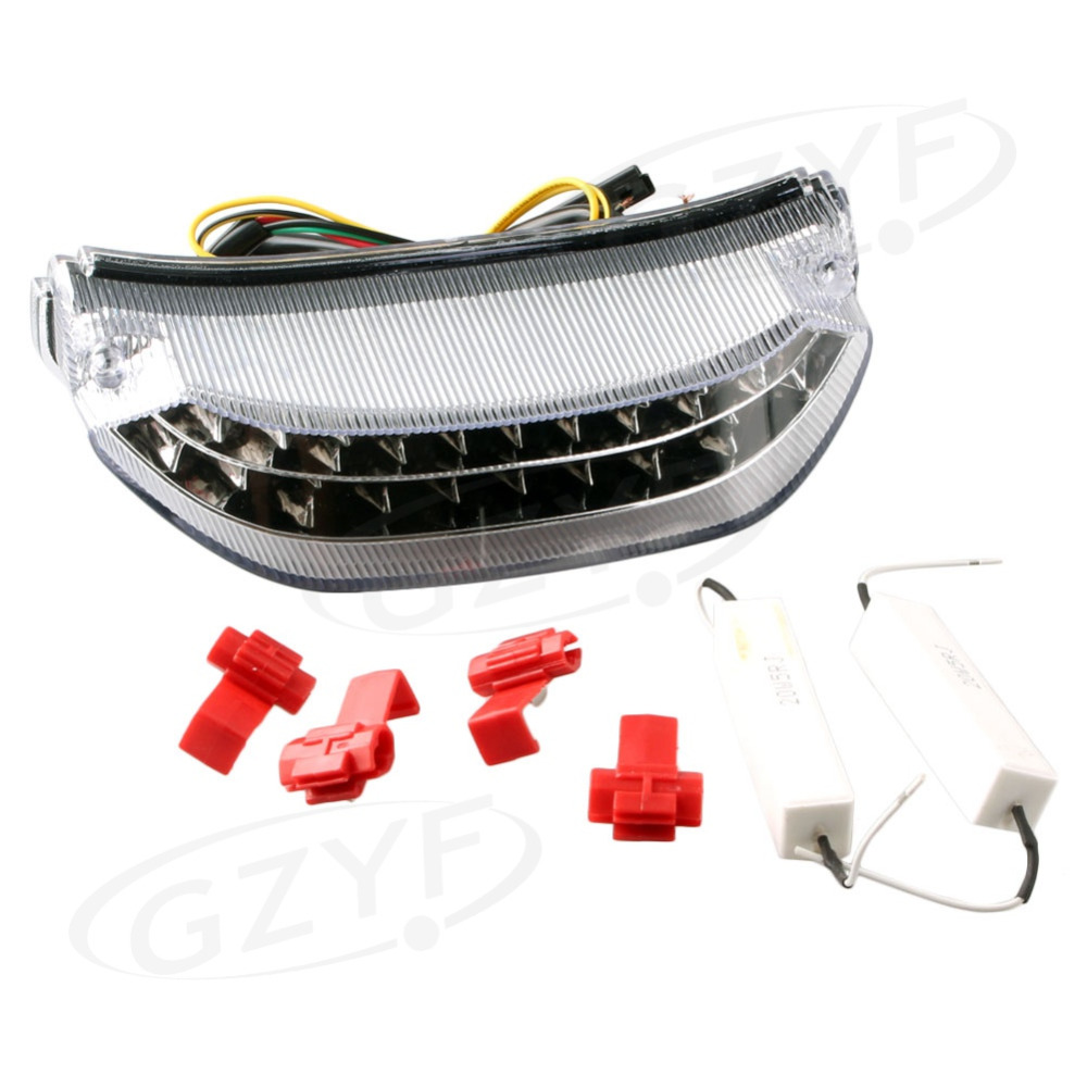 Integrated <font><b>LED</b></font> Motorcycle Taillight Turn Signals For Honda CBR 600RR <font><b>CBR600RR</b></font> 2013 2014 Clear