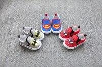 New Brand Baby Boys Fashion Canvas Shoes Flats Kids Platform Sneakers Toddler Superman Cool Spiderman Batman Shoes Wholesale
