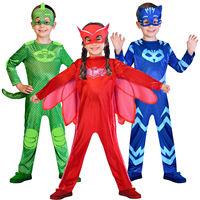 Childs Boys Girls PJ MASKS Halloween Party Fancy Dress Costume