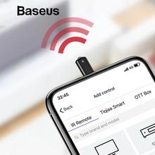 Baseus Универсальный инфракрасный пульт дистанционного управления для iPhone IR беспроводной умный пульт дистанционного управления для ТВ Кондиционер обновленная Поддержка iOS 12