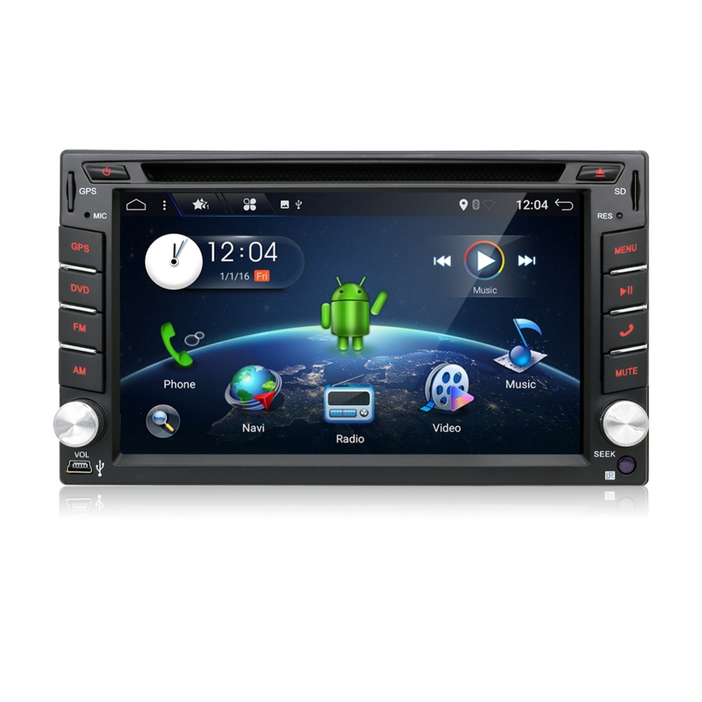Clearance Android 7.1 Quad Core With Car DVD Player GPS Navi For Toyota RAV4 Corolla Hilux For Universal Car Radio Touch Screen Car Stereo 21