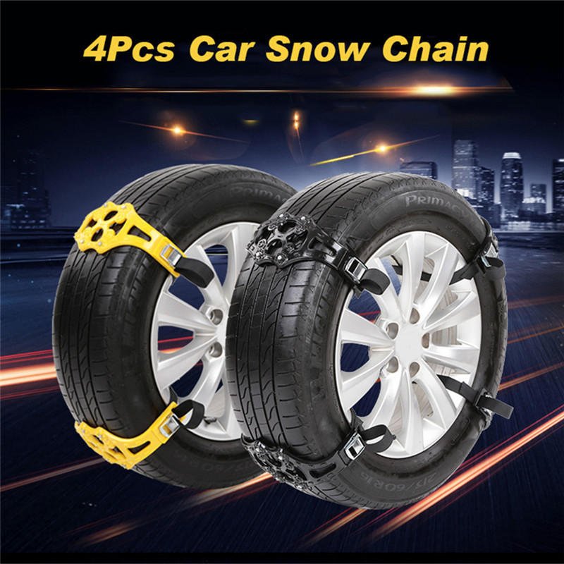 Travel & Roadway Product 4 Pcs/set Universal Auto Car Trunk Suv Tire Tyre Anti-skid Belt Emergency Anti-skid Chain For Snow Sand Mud Road Gloves Clear And Distinctive Snow Chains