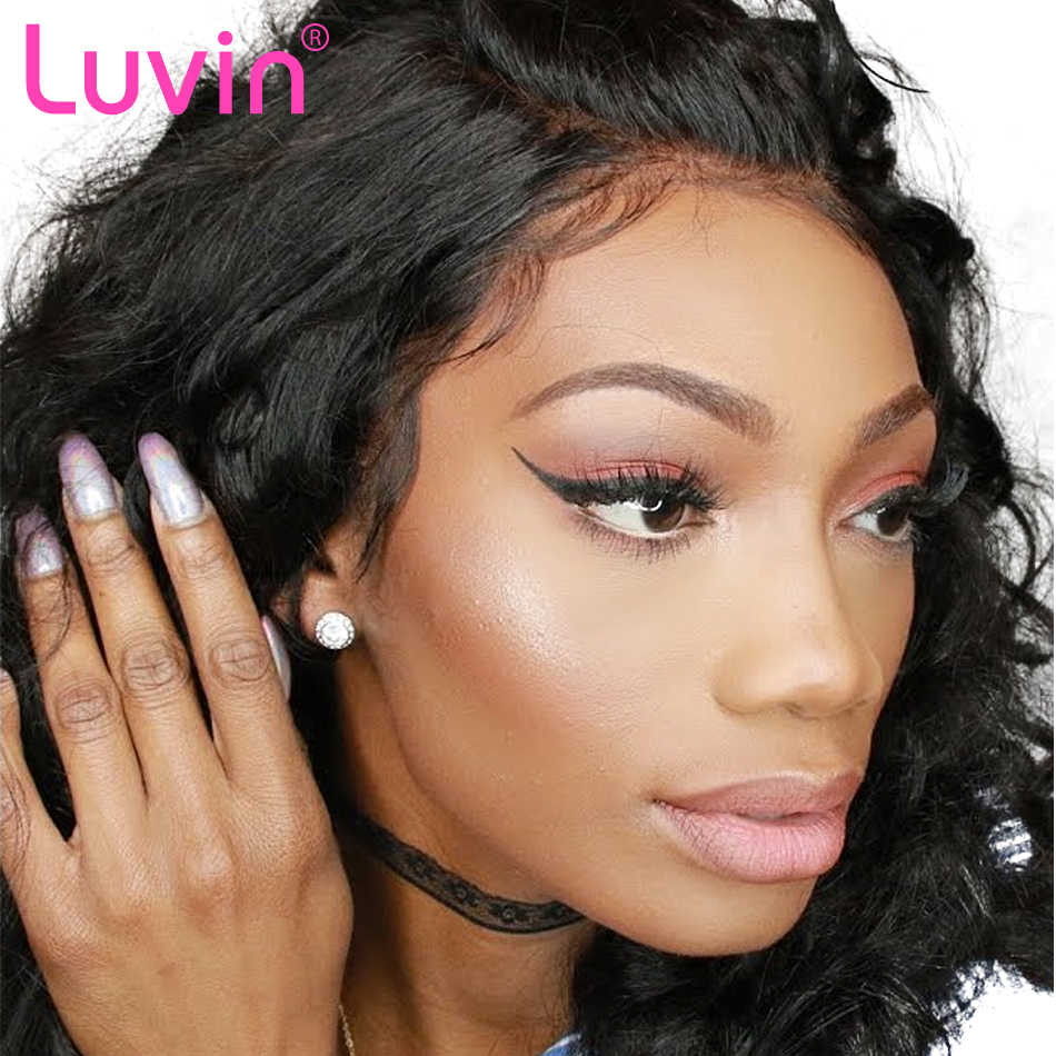 Luvin Brazilian Human Hair Lace Frontal Closure Body Wave 13*4 Bleached Knots Baby Hair Pre Pluched 100% Remy Hair Shipping Free