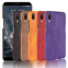 For Meizu ME3 Case Hard PC+PU Leather Retro wood grain Phone Meilan E3 Cover Luxury Wood for M