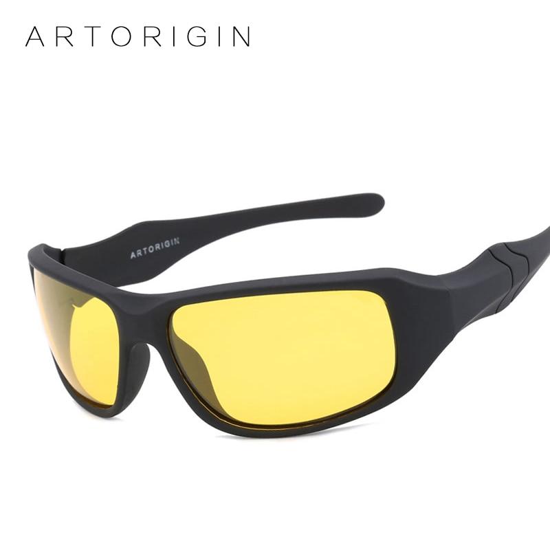 ARTORIGIN Polarized Sunglasses Men Women Night Vision Goggles Driving Glasses Anti Glare Safety Sunglass With Box AT003