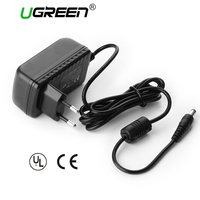 Ugreen DC 12V 2A Power Adapter Black EU Plug Power Charger Adapter For USB HUB Monitor