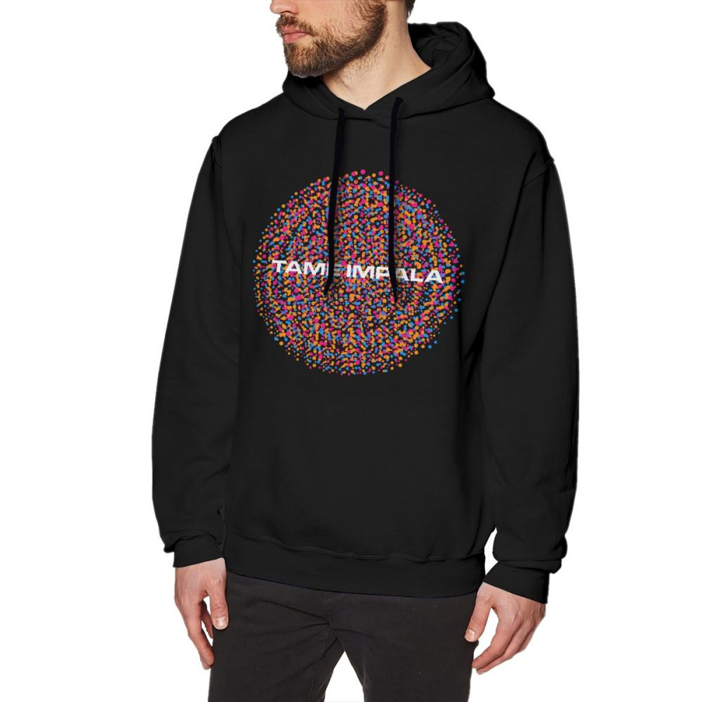 Tame Impala Hoodie TAME IMPALA Dot Circles Hoodies Oversize Purple Pullover Hoodie Cotton Fashion Streetwear Autumn Male Hoodies 건달 조폭 옷
