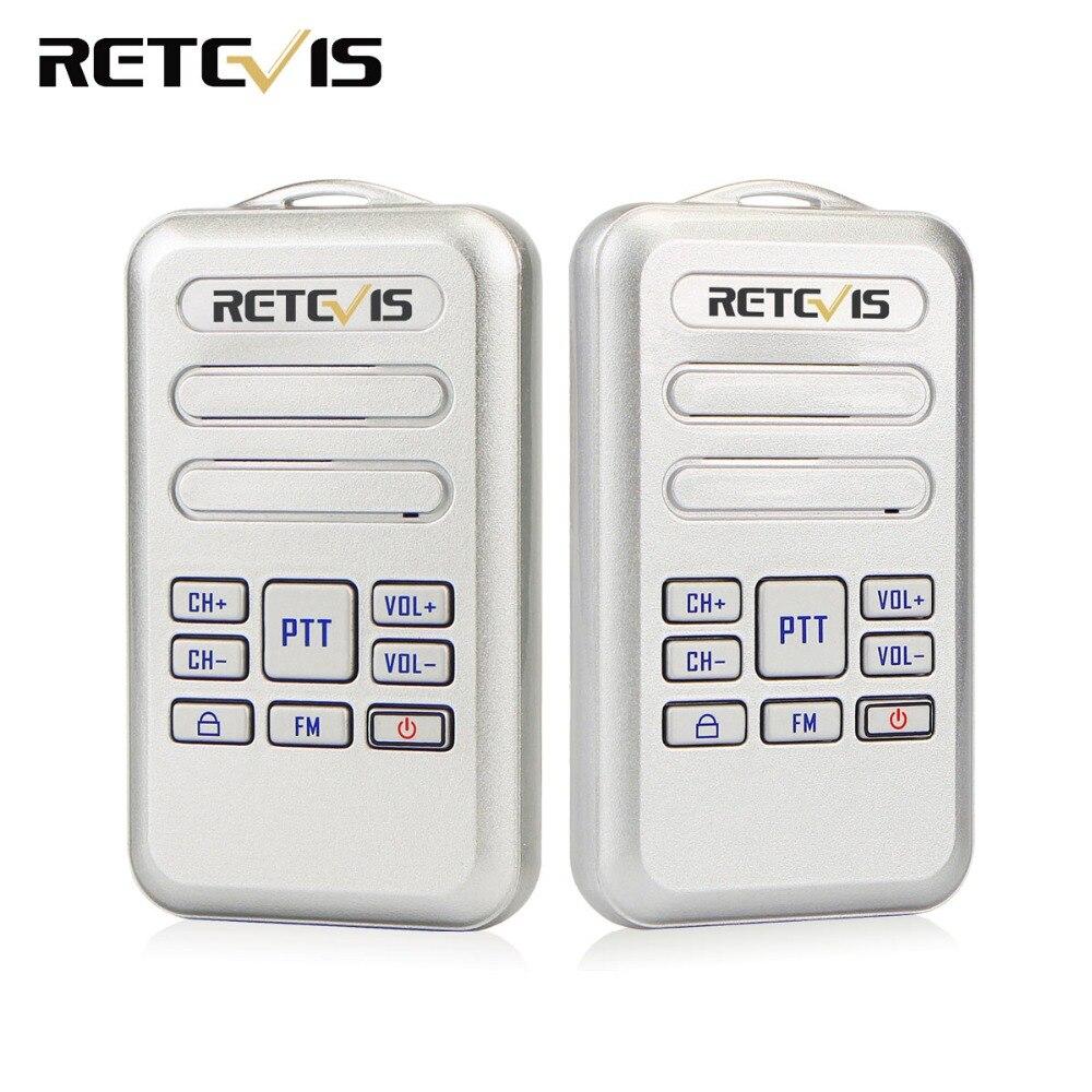 2 pièces rechape RT20 Mini talkie-walkie 2 W UHF 400-470 MHz FM entreprise Radio bidirectionnelle HF émetteur-récepteur