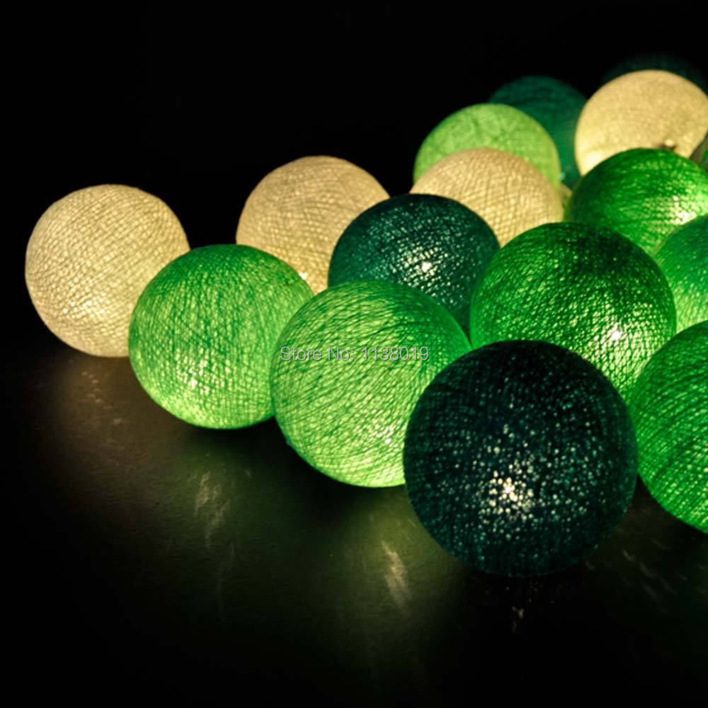 Pastel Sweet green white tone Cotton Ball Patio Party String Lights Fairy,Wedding,home - Compare Prices On Green Fairies- Online Shopping/Buy Low Price