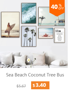 HTB18d9FaovrK1RjSspc762zSXXa6 Pink Bus Cactus Pineapple Blue Sea Beach Wall Art Canvas Painting Nordic Posters And Prints Wall Pictures For Living Room Decor