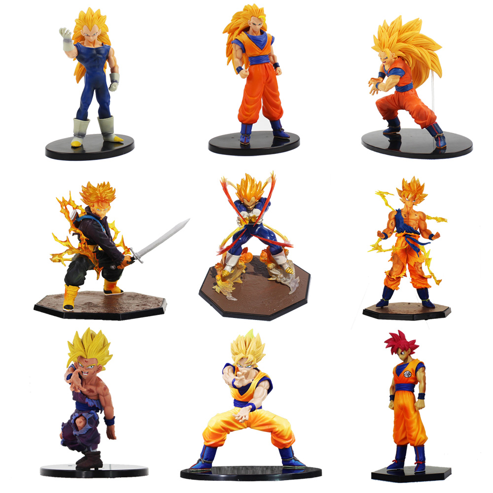 1pcs Dragon Ball Z Super Saiyan Gohan Trunks vegeta God Son Goku PVC Action Figure Toy Collectible Model Doll Toys best gifts naruto kakashi hatake action figure sharingan ver kakashi doll pvc action figure collectible model toy 30cm kt3510