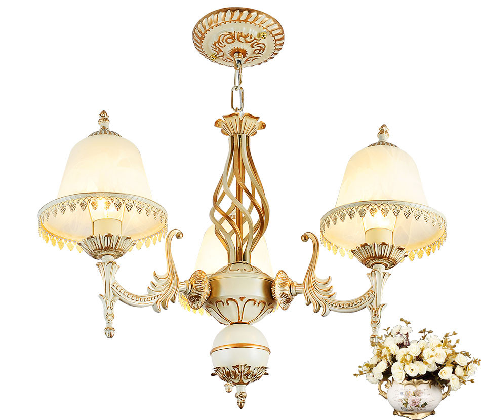 Genuine vintage chandeliers handmade golden novelty led chandelier Ceiling Lamp New arrival lustre chandelier free shipping in Chandeliers from Lights Lighting