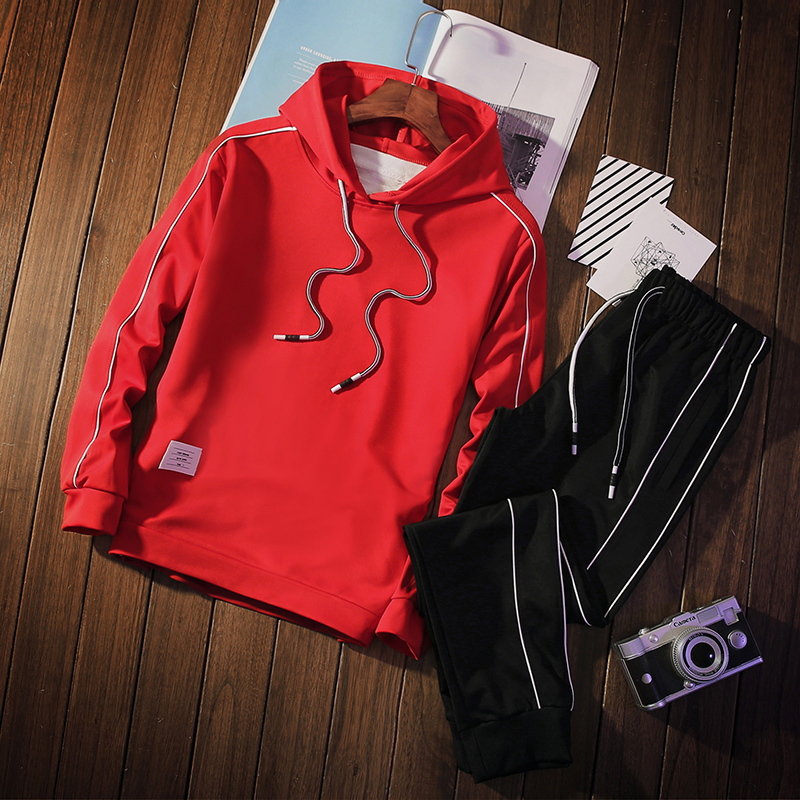 Spring Autumn Two Piece Sporting Suits Hodies+pants Mens Hoodies Sets Streewear Tracksuit Men's Clothing 2018