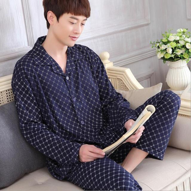 Мужская Pijama Мужчин Пижамы Наборы Пижамы Мужчин Pijama Хлопок Текстильной ночное 318