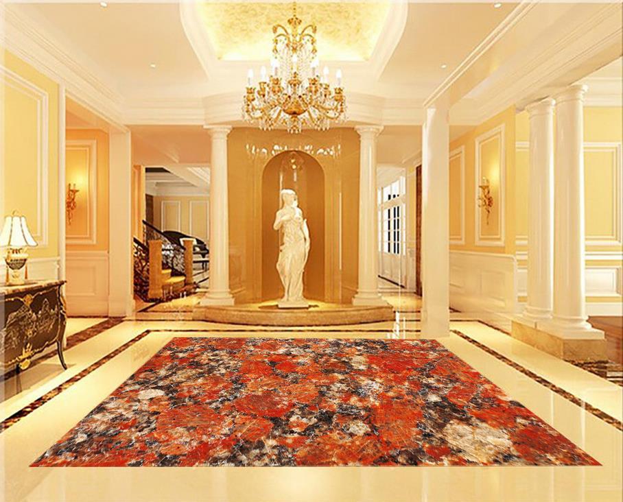 Marble 3D wallpaper floor for living room Floor wallpaper 3d for bathrooms Custom Photo self-adhesive 3D floor