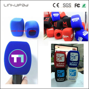 Image 2 - linhuipad white microphone covers print logo mic windscreens customized Winds Handheld microphone sponge for outdoor interview