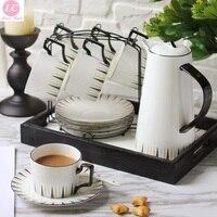 Кофейная чашка и блюдце набор кость Китайский чайный набор современный послеобеденный чай домашние Кофейные Наборы скандинавские кофейны