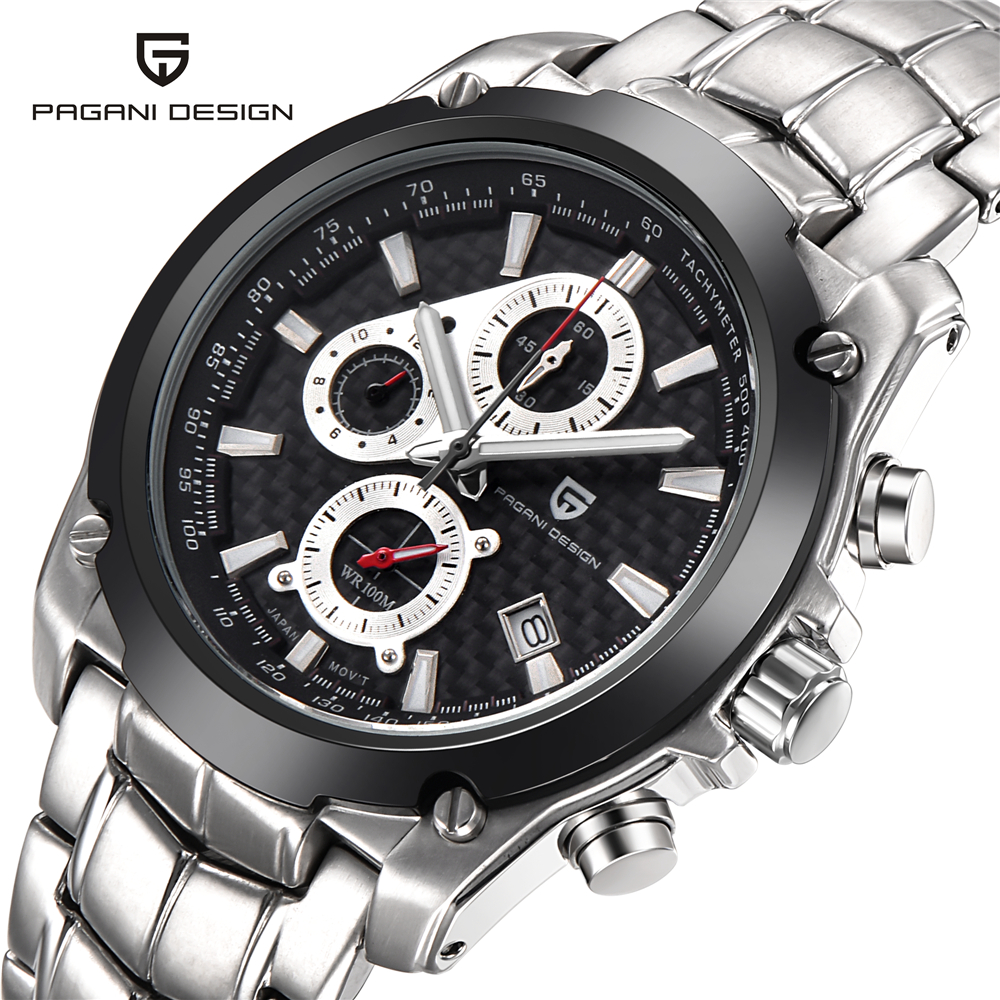 ФОТО Pagani Design Watches Men Luxury Brand Multifunction Full Steel Watches Men's Quartz Watch Waterproof Sports Military Watch 2016