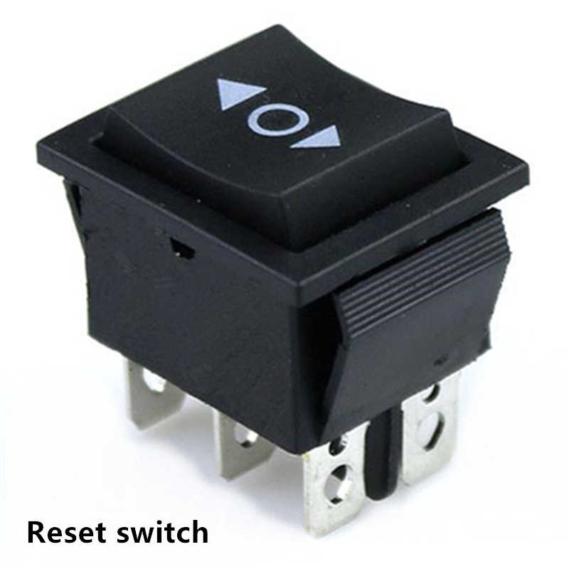 1 Pcs KCD4 6 Pin Hitam Rocker Switch Power Switch On-Off-On 3 Posisi 16A 250VAC/ 20A 125VAC 30*19 Mm