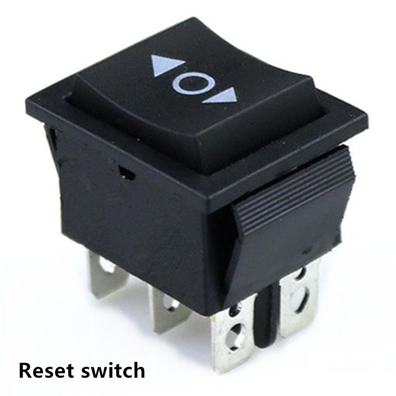 1 PCS KCD4 6 Pin Black Rocker Switch ON-OFF-ON 3 Position 16A 250VAC/ 20A 125VAC Reset Power Switch