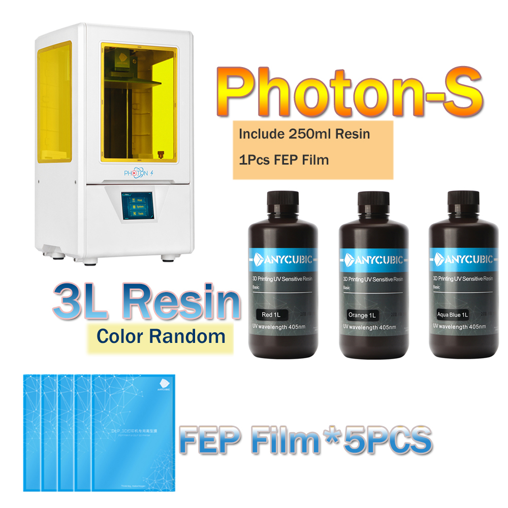 ANYCUBIC Photon S SLA Quick Slice 2K Screen 405nm UV Light LCD Shadow MaskingDesktop
