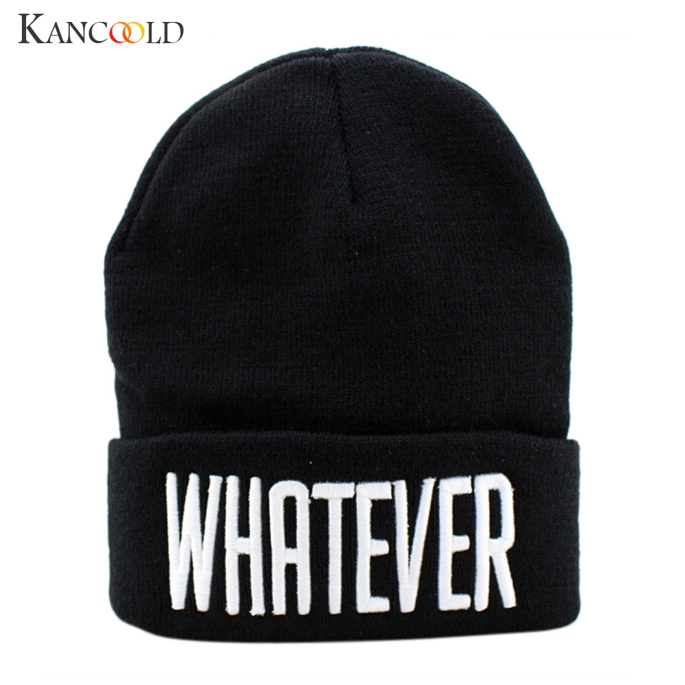 KANCOOLD Hat Men And Women Fashion Cap Winter Black Whatever Beanie Hat And Snapback High Quality Hat Woman 2018NOV15