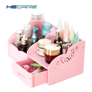 Plastic DIY Storage Box Makeup Organizer Container Jewelry Case Handmade Assembly Storage Organizer for Cosmetics Sundries Case