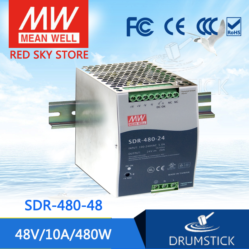 цена на Advantages SDR-480-48 48V 10A meanwell SDR-480 48V 480W Single Output Industrial DIN RAIL with PFC Function [Real1]