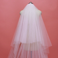 Real Photos 2 Layers 3 M Bling Sequins Partial Lace Edge Wedding Veil with Comb Elegant Bridal Veil Wedding Accessories