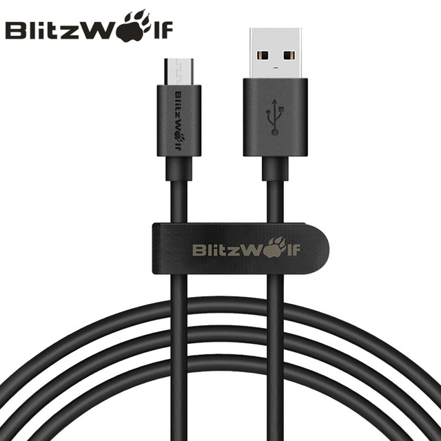 BlitzWolf Micro USB Cable 1m Mobile Phone Cables Data Cable 2.4A Fast Charging C